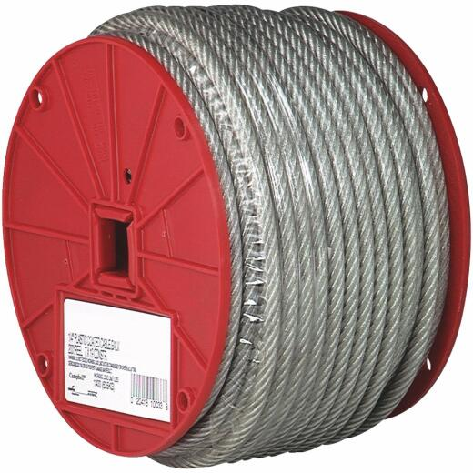 Campbell 3/16 In. x 250 Ft. Vinyl-Coated Galvanized Clothesline Cable