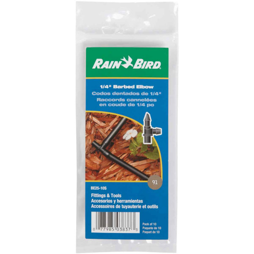 Rain Bird 1/4 In. Tubing Barbed Elbow (10-Pack)