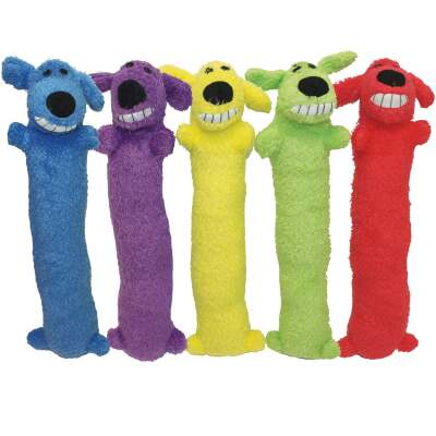 Multipet Loofa Dog 12 In. Plush Squeaky Dog Toy