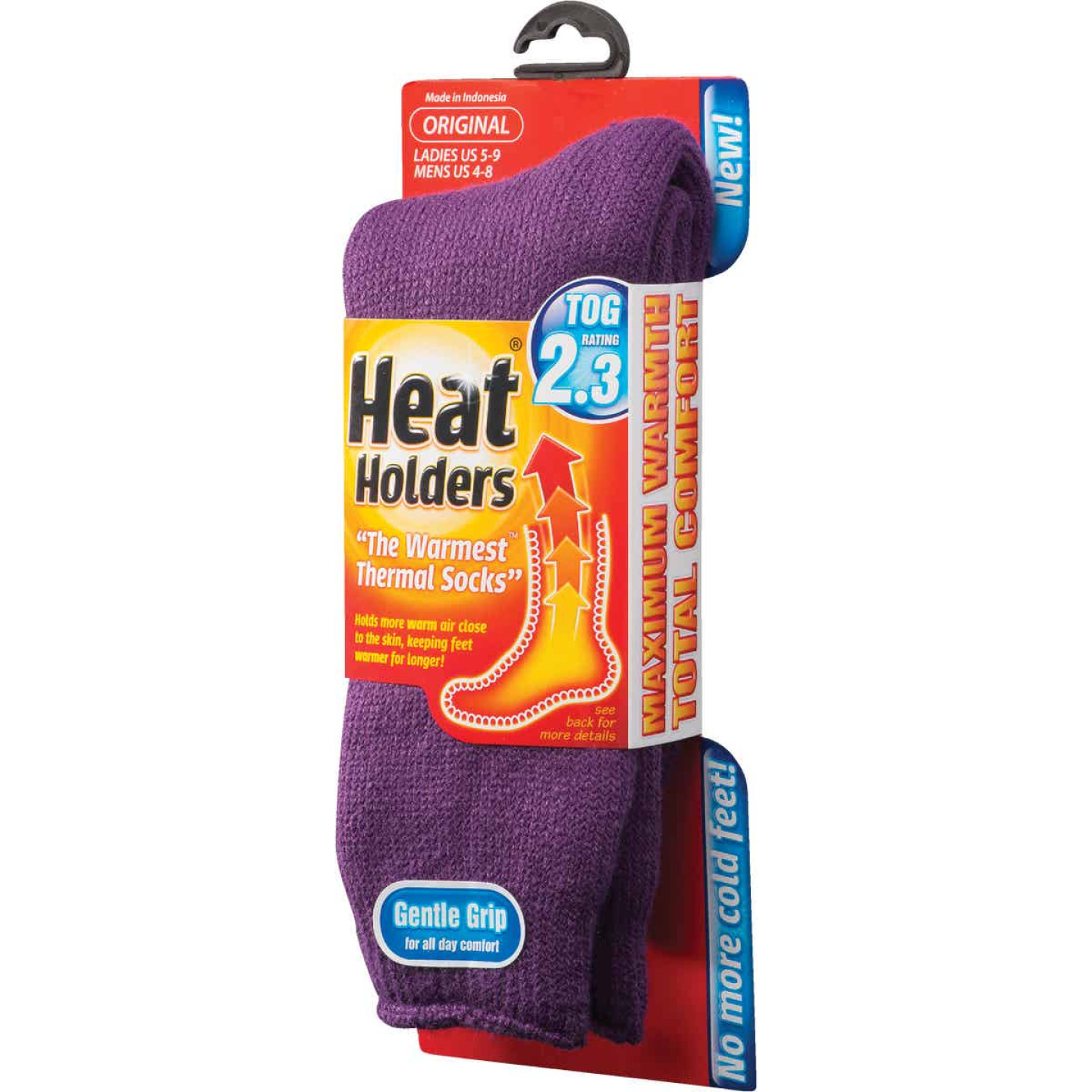 Heat Holders Women's 5 to 9 Purple Thermal Sock Image 2