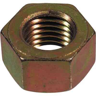 Hillman 1/2 In. 13 tpi Grade 8 Yellow Dichromate Hex Nuts (50 Ct.)