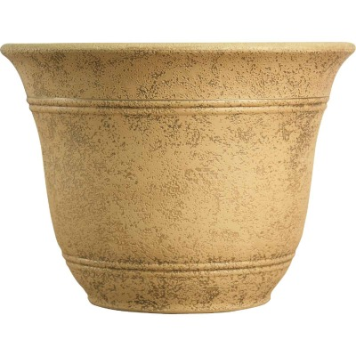 Listo Sierra 9.63 In. H. x 13 In. Dia. Arizona Sand Poly Flower Pot