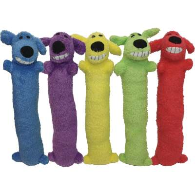 Multipet Loofa Dog 18 In. Plush Squeaky Dog Toy