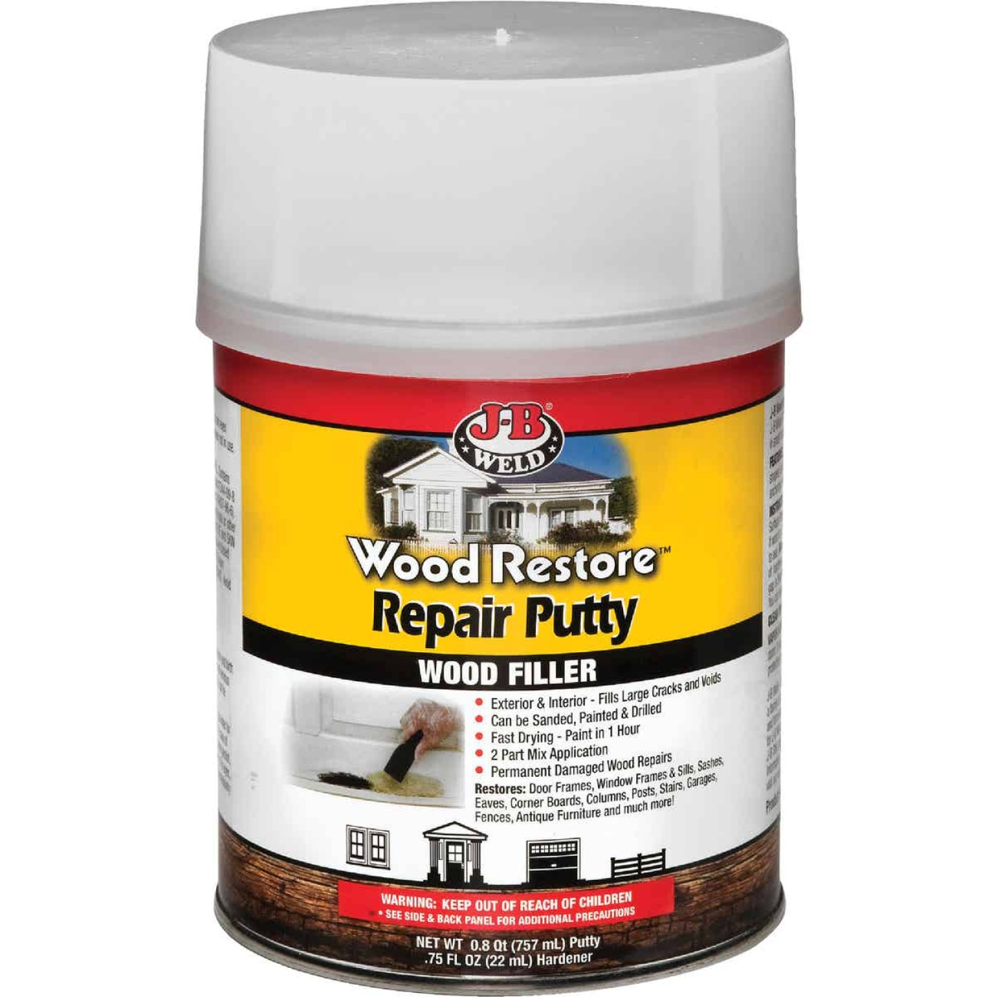 J-B Weld Wood Restore 32 Oz. 2-Part Repair Wood Putty Image 1