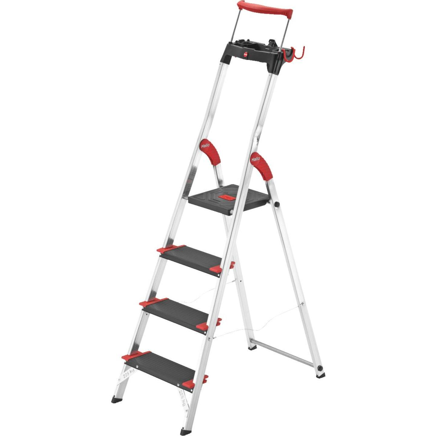Hailo XXR225 5 Ft. Aluminum Step Ladder with Safety Rail & 330 Lb. Load Capacity Image 1
