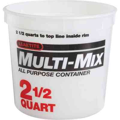 Leaktite 2.5 Qt. White Multi-Mix All Purpose Mixing And Storage Container