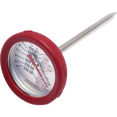 GrillPro Analog 8 In. Stainless Steel Thermometer with Bezel