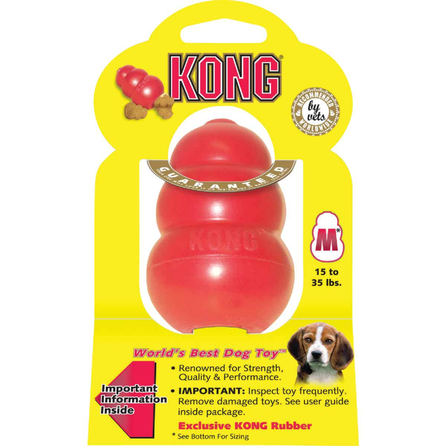 Kong Classic Dog Chew Toy, 15 to 35 Lb. Image 1