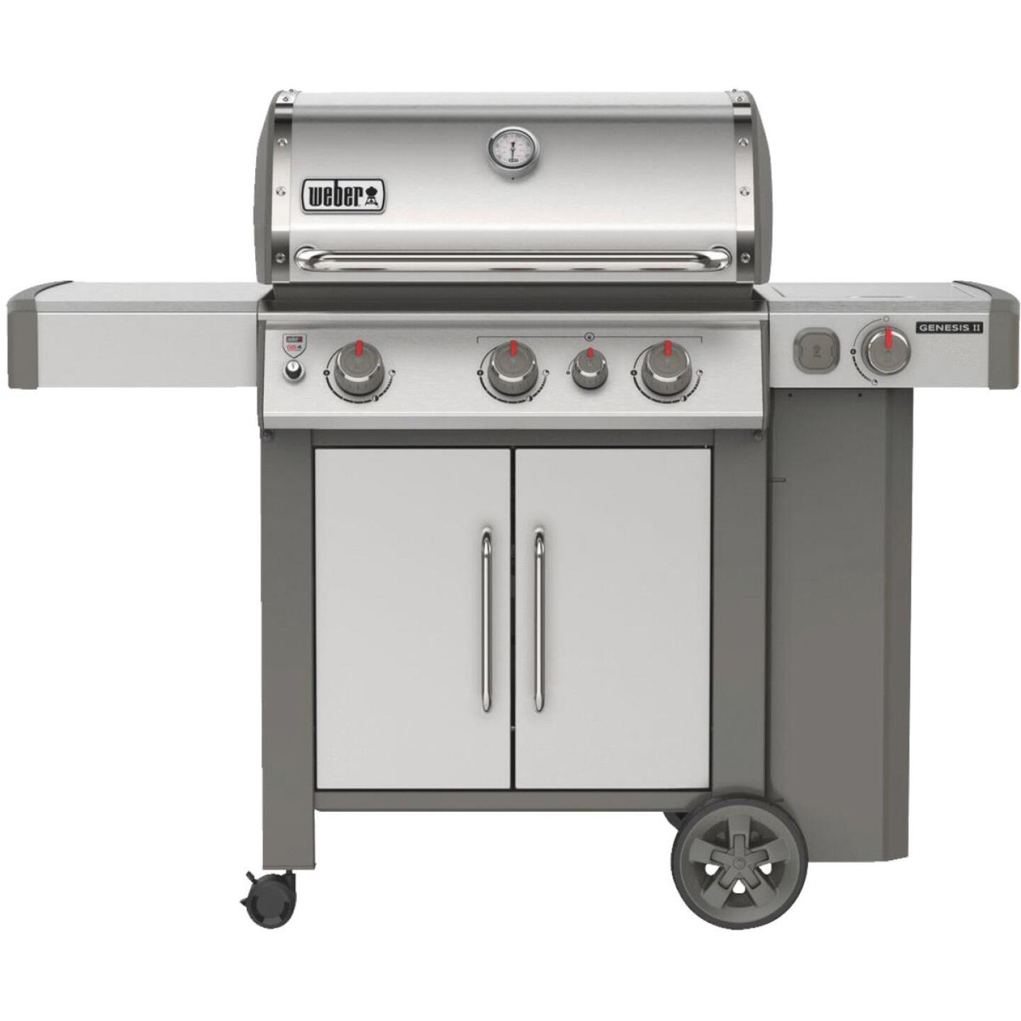 Weber Genesis II S-335 3-Burner Stainless Steel 39,000 BTU LP Gas Grill with 12,000 BTU Side -Burner Image 1