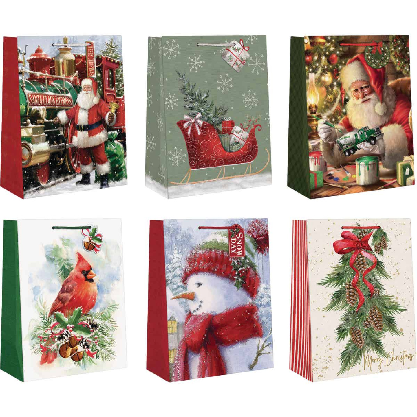 Paper Images Large Traditional Paper Gift Bag Image 1