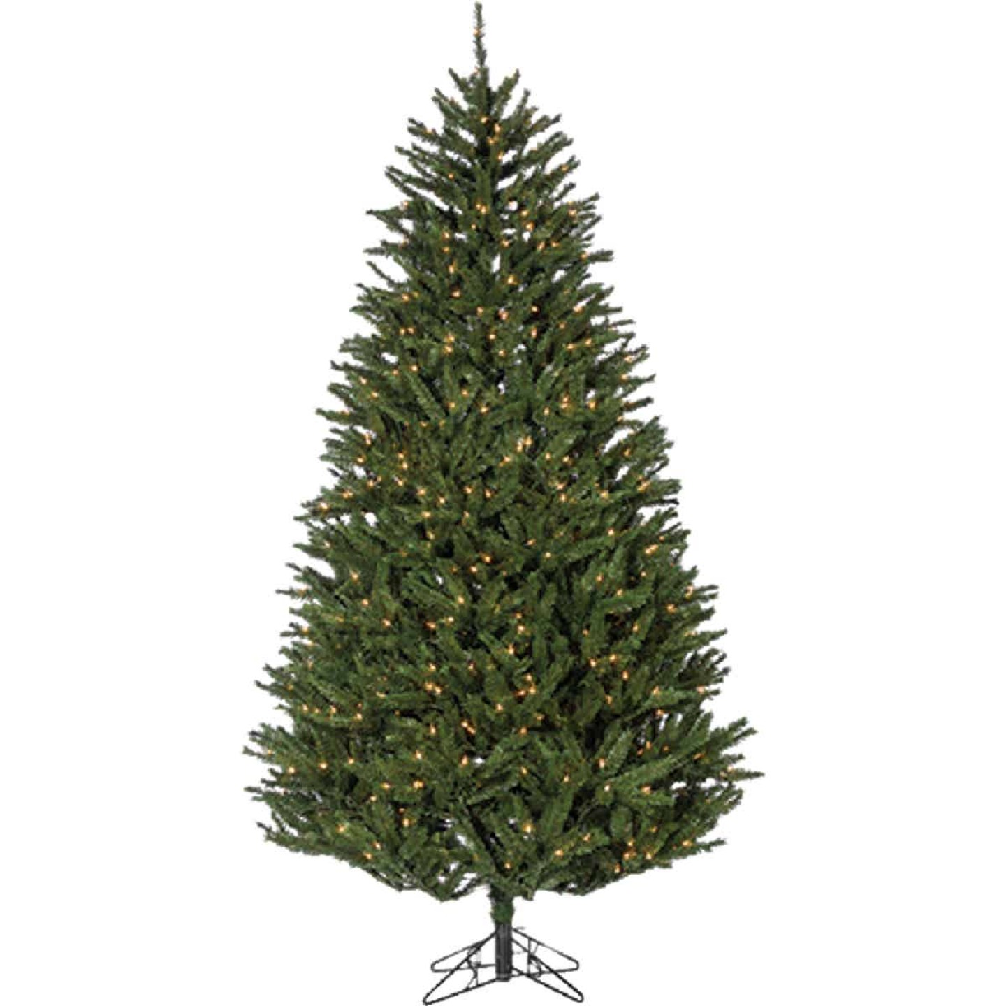 Sterling 7.5 Ft. New England Pine 800-Bulb Clear Incandescent Prelit Artificial Christmas Tree Image 1